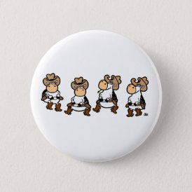 Linedancing Cows Button