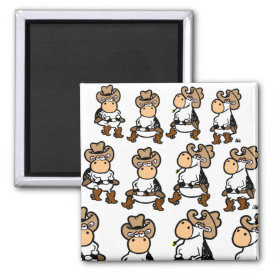 Linedancing Cows Magnet