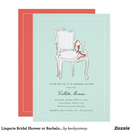 Lingerie Bridal Shower or Bachelorette Party Invitation