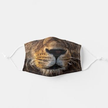Lion Big Cat Whiskers Face Adult Cloth Face Mask
