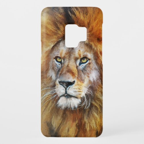 Lion Digital Oil Painting Case-Mate Samsung Galaxy S9 Case