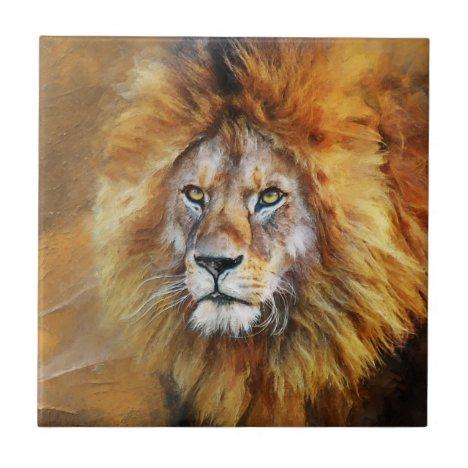 Lion Digital Oil Painting Ceramic Tile