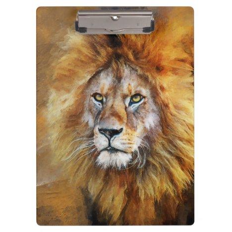 Lion Digital Oil Painting Clipboard