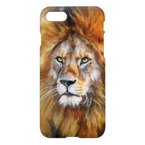 Lion Digital Oil Painting iPhone 8/7 Case