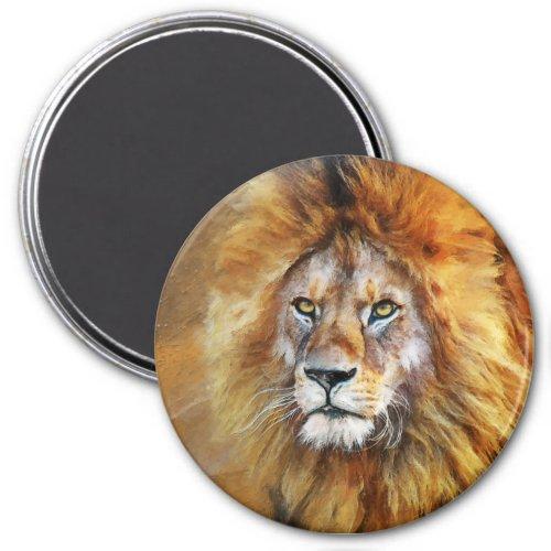 Lion Digital Oil Painting Magnet