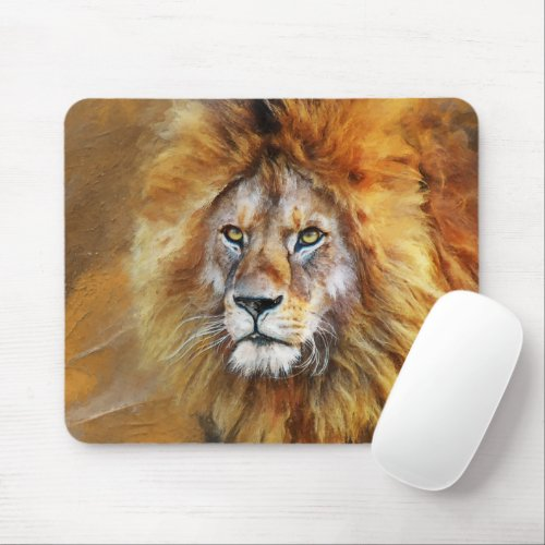 Lion Digital Oil Painting Mouse Pad