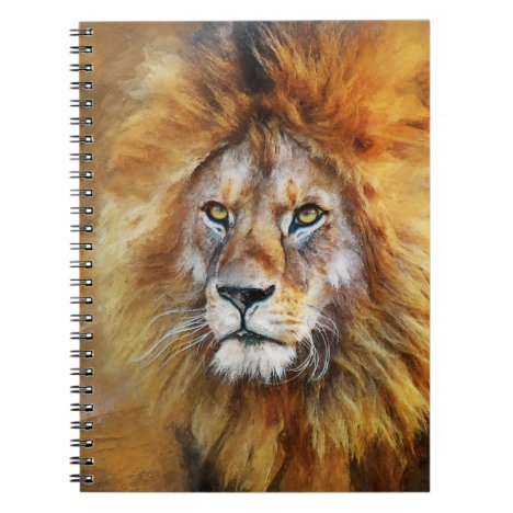 Lion Digital Oil Painting Notebook