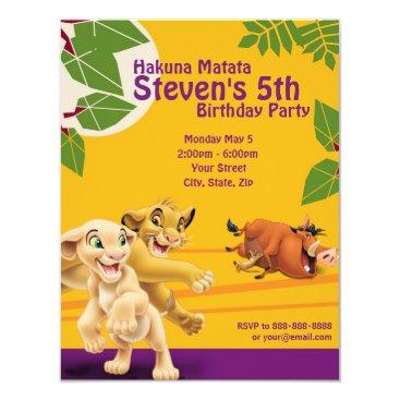 Lion King Birthday Invitation