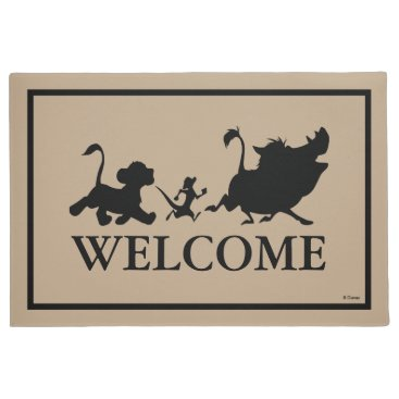 Lion King Silhouette   Welcome Doormat