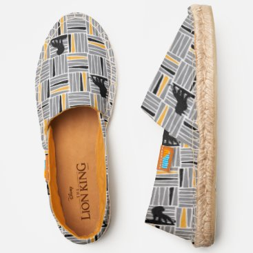 Lion King | Simba Gray & Gold Hatched Pattern Espadrilles
