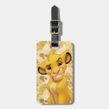 Lion King | Simba on Triangle Pattern Bag Tag