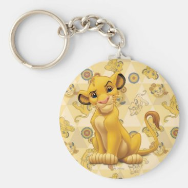 Lion King | Simba on Triangle Pattern Keychain