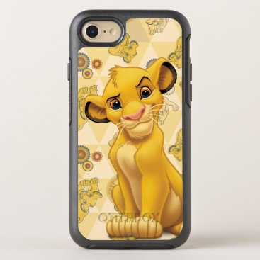 Lion King | Simba on Triangle Pattern OtterBox Symmetry iPhone 7 Case