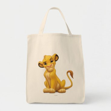 Lion King | Simba on Triangle Pattern Tote Bag