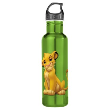 Lion King | Simba on Triangle Pattern Water Bottle