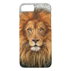 Lion Photograph Paint Art image iPhone 7 Case