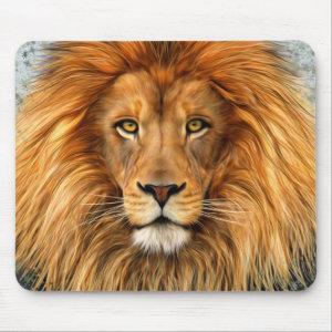 Lion Photograph Paint Art image Mouse Pad