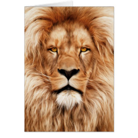 Lion The King Photo Painting Card