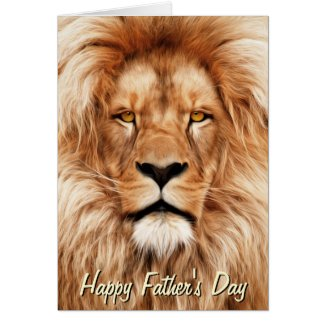 Lion The King Photo Painting Father's Day Cards