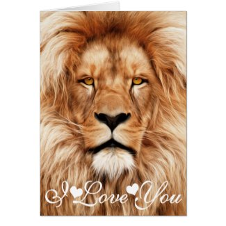 Lion The King Photo Painting I Love You Card
