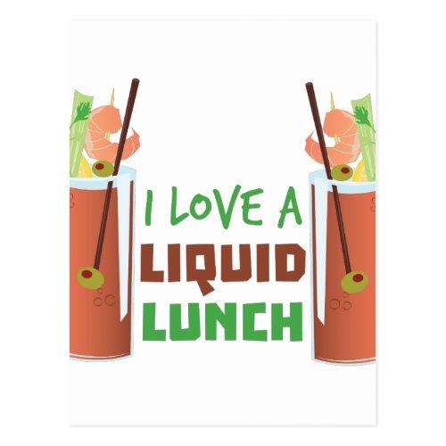 Liquid Lunch Postcard