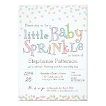 Little Baby Sprinkle Confetti Shower Invitation