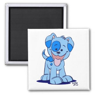 Little blue puppy magnet magnet