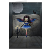 Little Dancer Gothic Vampire Fairy Card