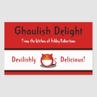 Little Devil Halloween Baking Labels Stickers