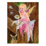 Little fairy fawn spring postcard