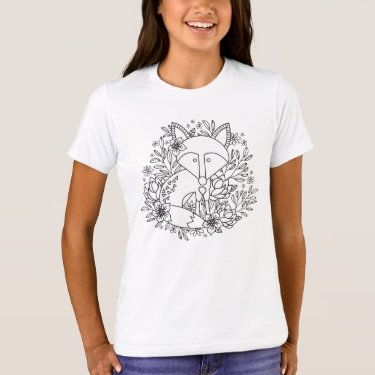 Little Fox Coloring T-Shirt