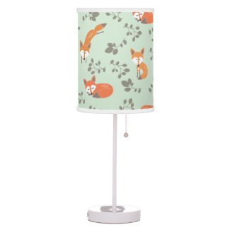 Little Fox Pattern Lamp