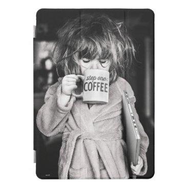 Little Girl Drinking Coffee iPad Pro Cover