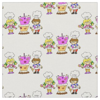 little kids chef fabric