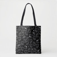 Little Llama Silhouette Madness Tote Bag