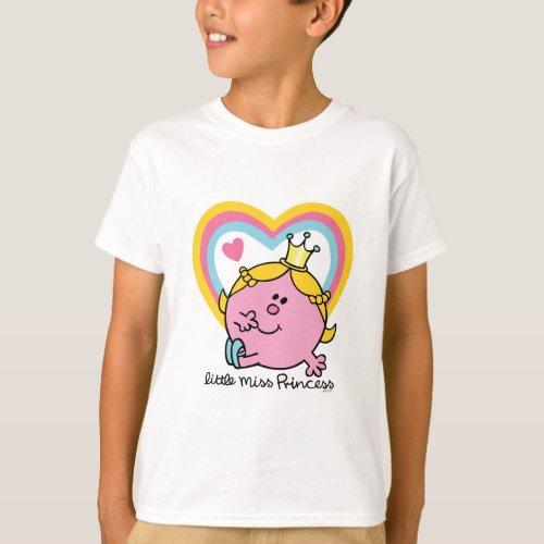 Little Miss Princess   Hearts T-Shirt