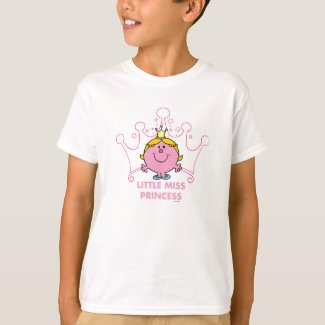 Little Miss Princess | Pink Five Pointed Crown T-Shirt