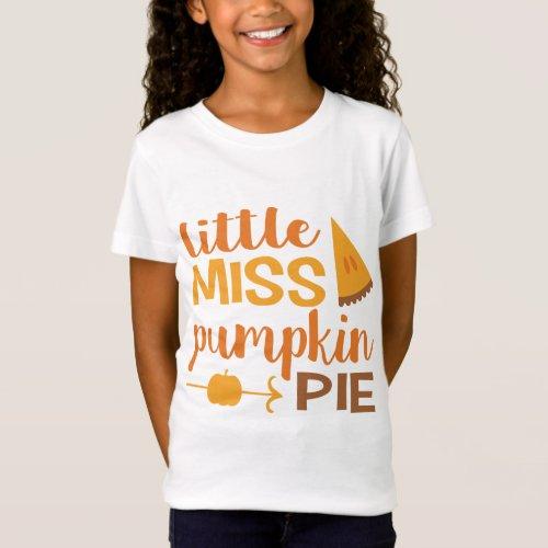 Little Miss Pumpkin Pie T-Shirt