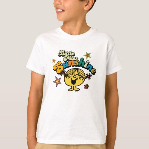 Little Miss Sunshine   Stars & Flowers T-Shirt