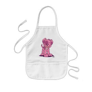 Little pink puppy Cooking Apron apron