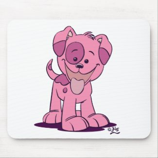 Little pink puppy mousepad mousepad