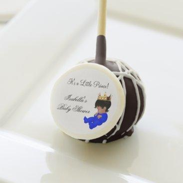 Little Prince Baby Shower Blue Gold Boy crown Cake Pops