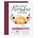 Little Pumpkin Custom Age Birthday Party Invitation