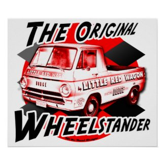 Little Red Wagon print