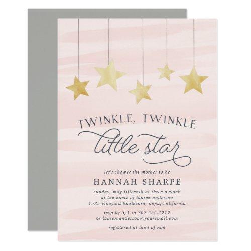 Little Star Baby Shower Invitation | Blush