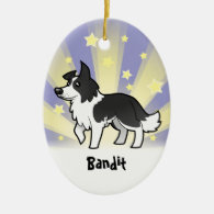 Little Star Border Collie (add your pets name) Christmas Ornaments