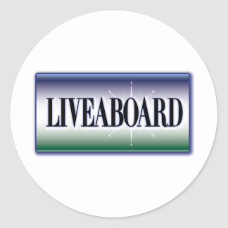 Liveaboard Round Stickers