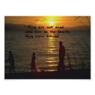 Living in your heart photo print
