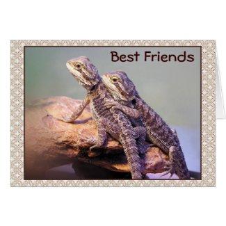 Lizard Friendship Photo Greeting Cards