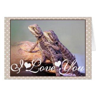 Lizard Friendship Photo Image I Love You Cards